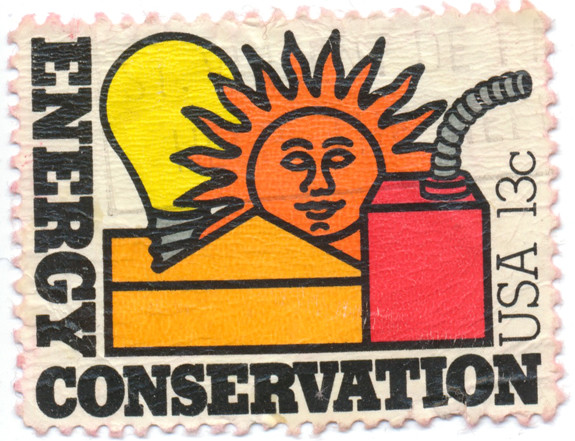 1970s Energy Conservation Stamp