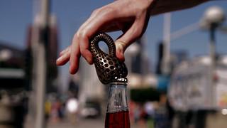 The Klein Bottle Opener by Bathsheba Grossman 3D Printed in Stainless Steel