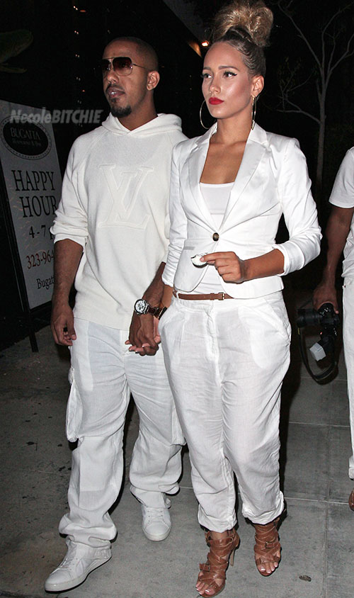 Marques-Houston-and-his-girlfriend-attend-white-party