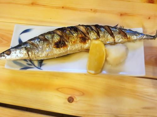秋刀魚塩焼@たけちゃん(東長崎)