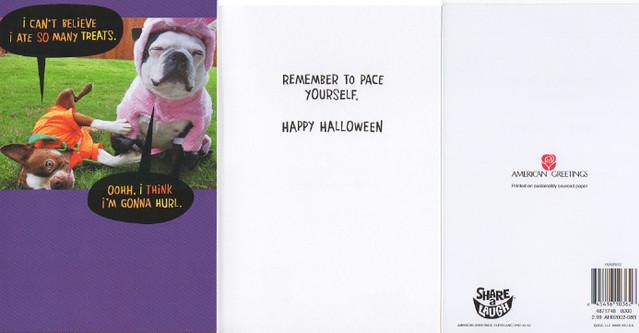 Hog & Clementine's American Greeting card