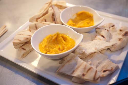 Tunisian Carrot Hummus @ Candela