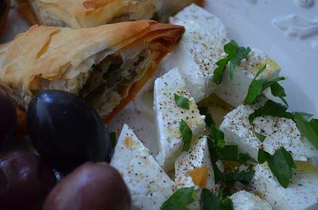 savory with double cream feta