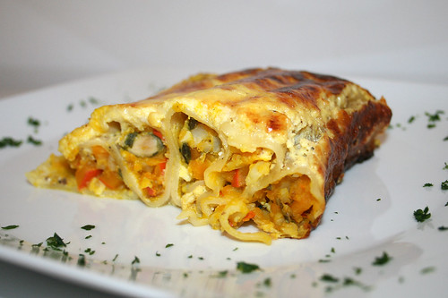 51 - Kürbis-Cannelloni / Pumpkin cannelloni - CloseUp