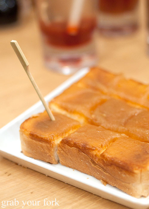 kaya thick toast at toast box, marina bay sands singapore