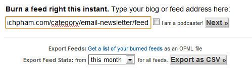 Hướng dẫn gửi bản tin đặc biệt qua email với Feedburner 221