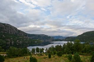 View from Preikestolhytta early morning