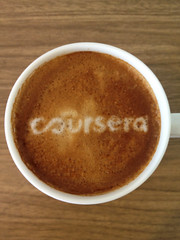 Today's latte, Coursera.org.