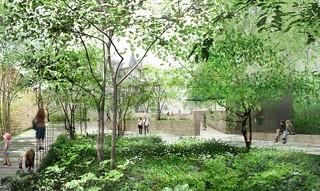 Jardines del Puygarreau. Foto: Atelier Lion.