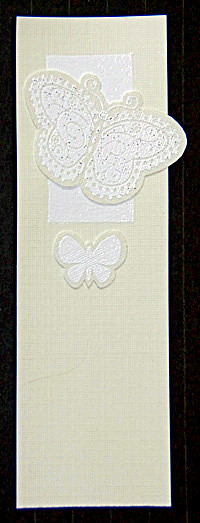Butterfly Snowstorm Bookmark