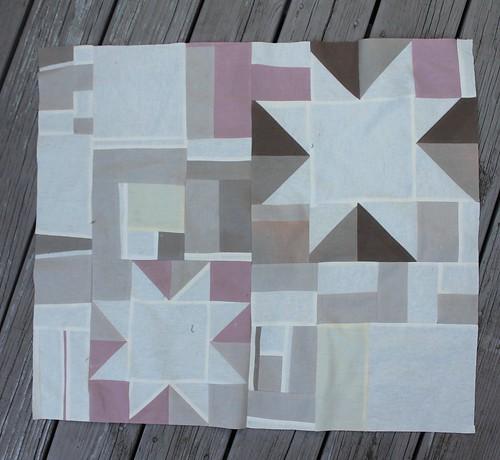 Linen Scrap Quilt