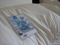 推行減少更換床單及毛巾次數的計畫,希望可減少洗滌造成的水污染問題。