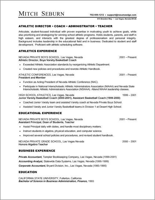 Resume on word