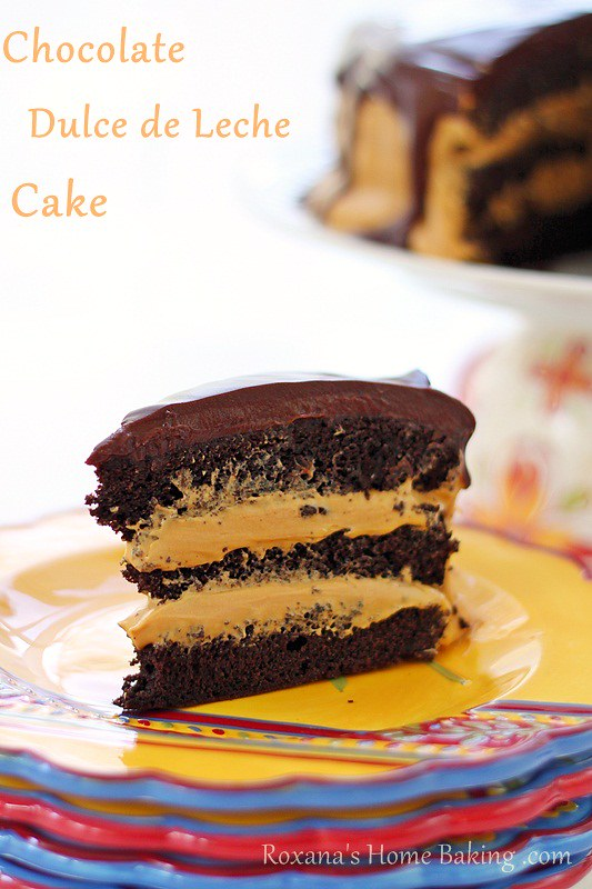Chocolate Dulce de Leche Cake | Roxanashomebaking.com