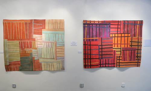 Lisa Call Structures 72 & 32 at The ArtQuilt Gallery