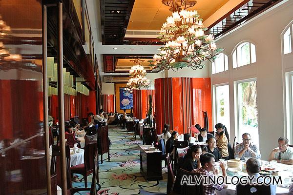 The classy interior of Crystal Lotus restaurant