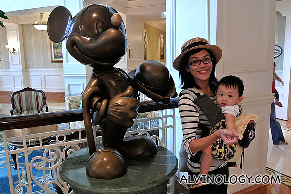 At the lobby of Disneyland Hotel