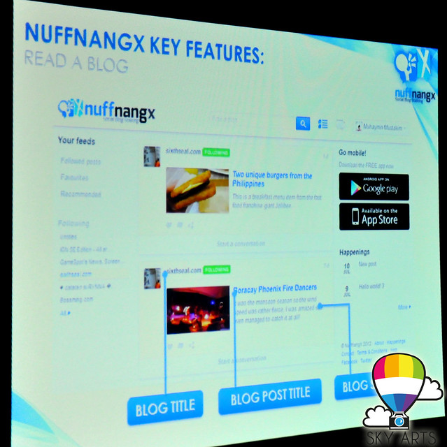 NuffnangX Read Blog mobile application by Nuffnang Social network with Mobile Device
