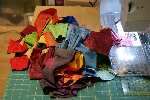 Jelly-Roll Regenbogen Schritt 1