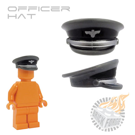Officer Hat - Dark Blueish Gray (Waffen)
