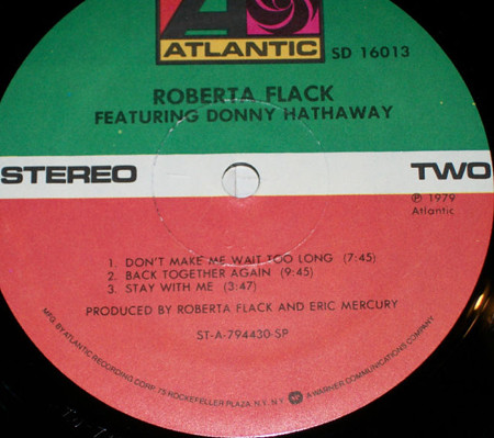Roberta Flack Featuring DHathaway-label two b