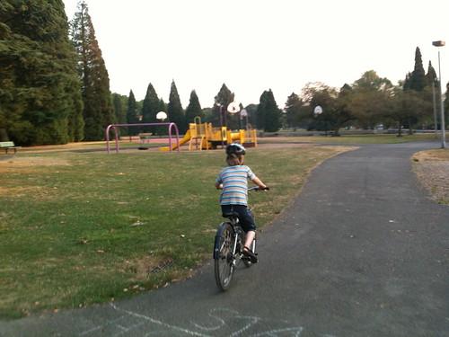 Silas rides away
