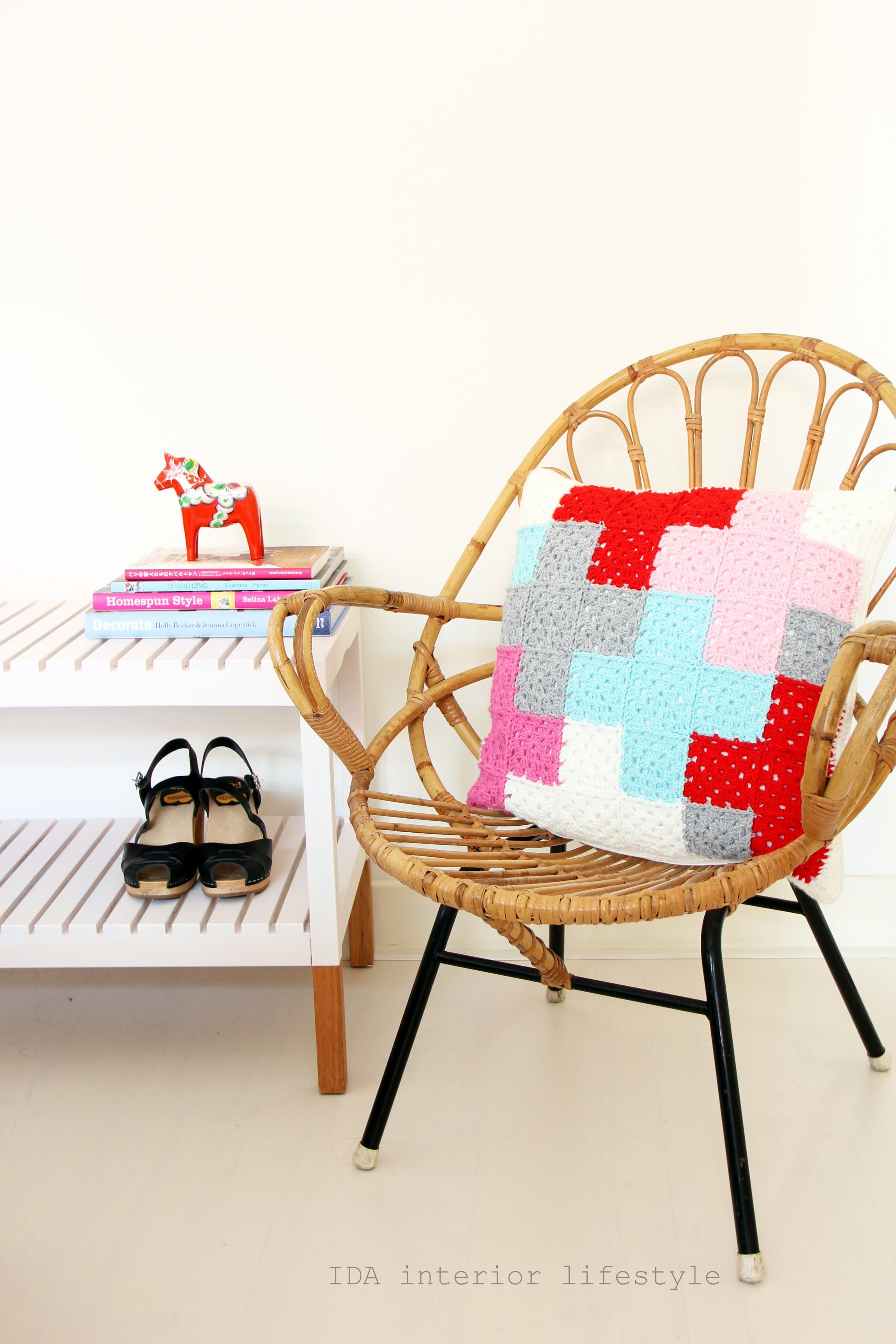 From my shop: crochet cushion with cross pattern
