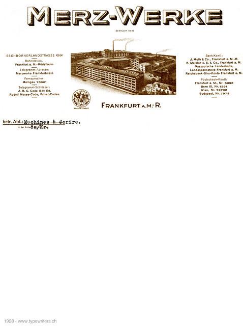 letterhead_Merz_1928