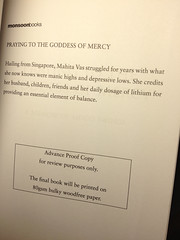 Book cover: Praying to the goddess of mercy: A memoir of mood swings/ Mahita Vas