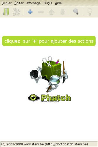 01-Capture-Liste actions non sauvegardée - Phatch