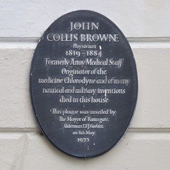 Photo of John Collis Browne black plaque