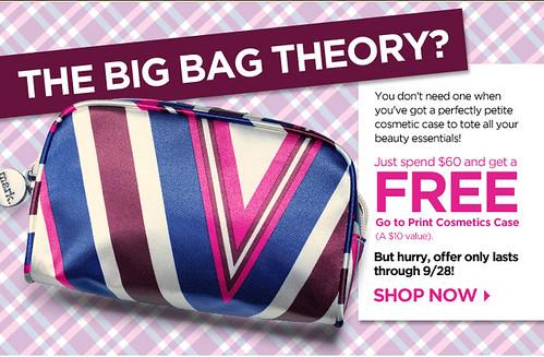 Get a free cosmetics bag