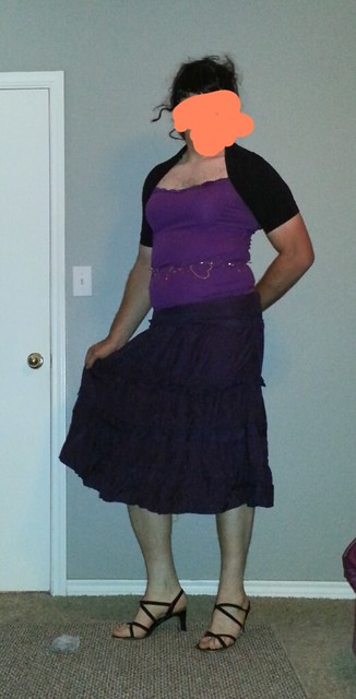 Purple top and skirt