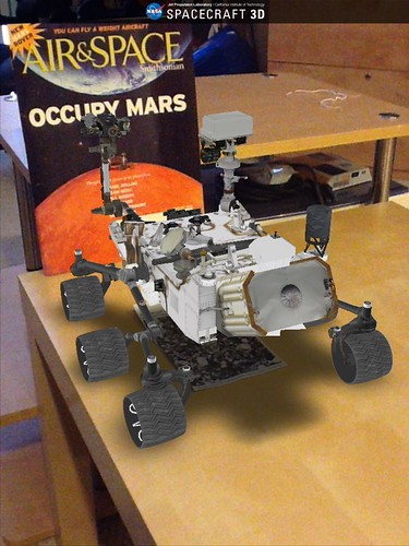 Curiosity Rover in Spacecraft 3D app