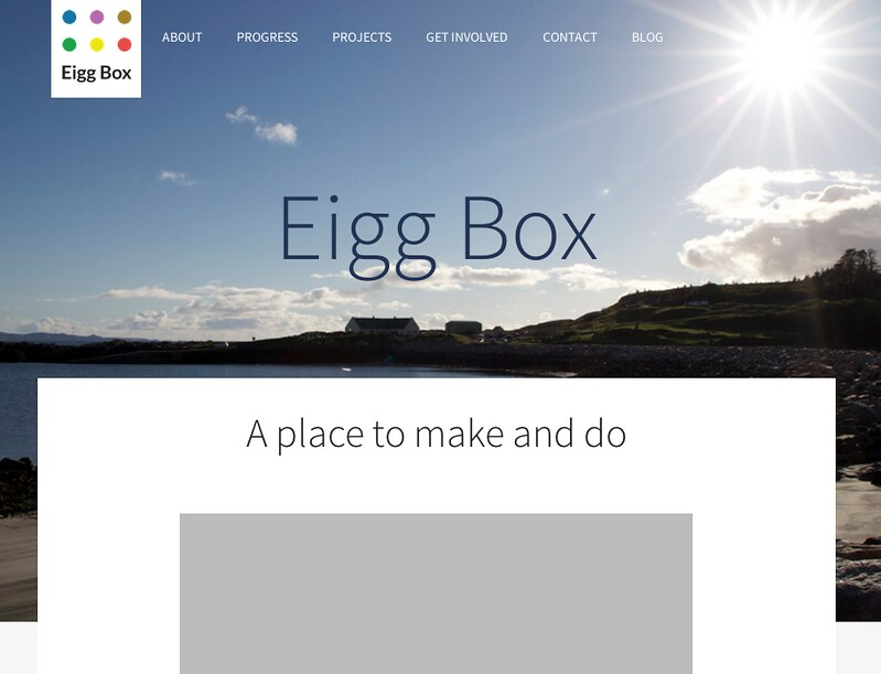 New Eigg Box Website Sketch