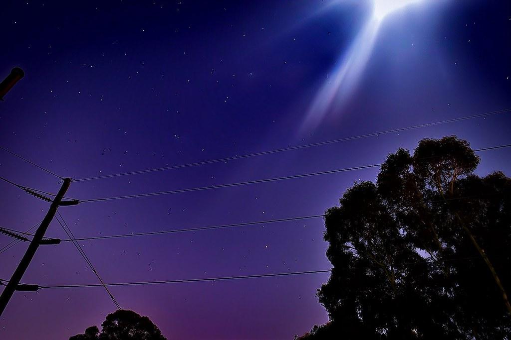 Scorpio and M7 setting under intense moon light   Mars, Satu
