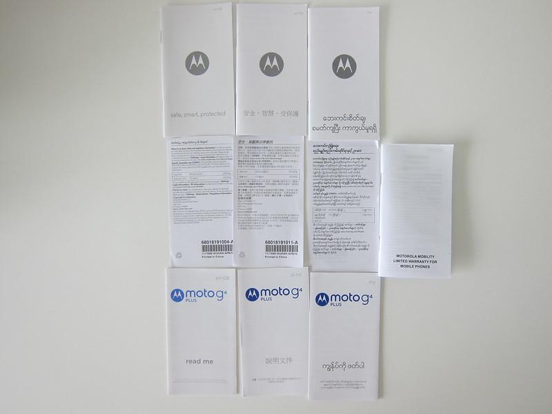 Moto G4 Plus - Booklets