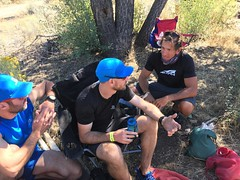 80 miles in the bag. 80 MILES! Marching on to 85 with @petitejosette and will pick up @briceferre to take him to the finish line. He's got this!