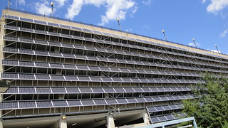 RiverCentre Parking Garage solar PV array