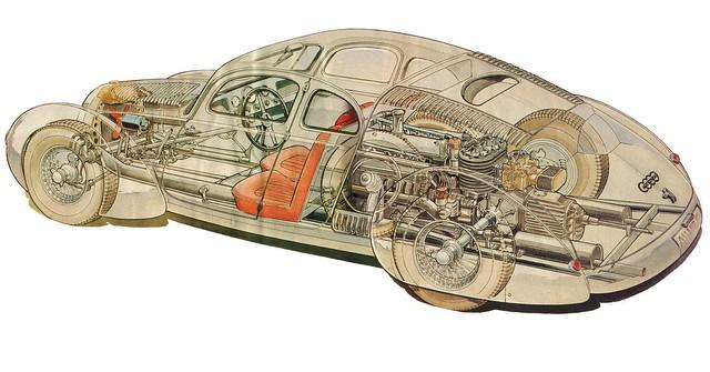 1936 Auto Union P52 cutaway