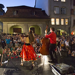 3 Daft Monkeys, Celtic Gypsy Folk (UK) am 9. Buskers Bern 2012 vor dem Schlachthaus Theater (Spielort 9)