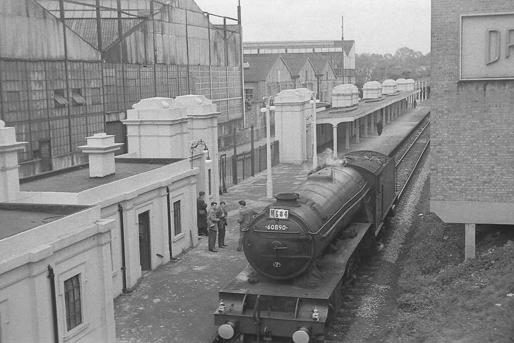 1961/05/06-01.  Up for the Cup!  V2 class 2-6-2 60890 at Wembley Stadium.