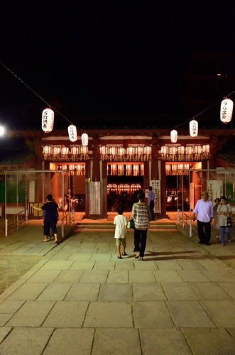 Temple visiting at night of summer.