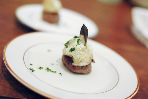 Hector Ramirez (Ruth's Chris) mini filet oscar style; crabtini; sweet potato casserole