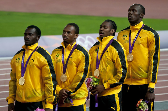 London 2012 - Jamaican 4x100m relay team | Flickr - Photo ...