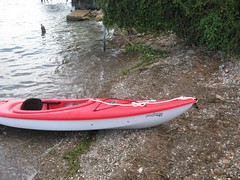 canoe(0.0), surfing--equipment and supplies(0.0), dinghy(0.0), skiff(0.0), watercraft rowing(0.0), oar(0.0), paddle(0.0), boats and boating--equipment and supplies(1.0), vehicle(1.0), kayak(1.0), boating(1.0), kayaking(1.0), watercraft(1.0), sea kayak(1.0), boat(1.0),