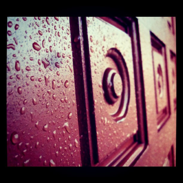 rainy door