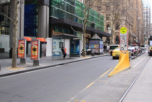 Telstra payphones after being moved to optimise adverting exposure