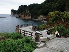 タコの浜の遊歩道