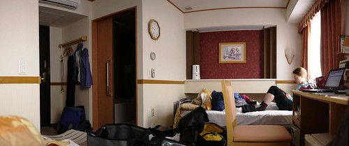 Hotel room at the Toyoko Inn in Abashiri, Hokkaido, Japan